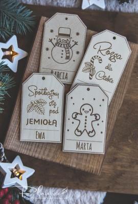 Etykiety drewniane z imionami