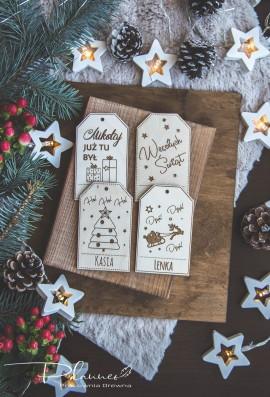 Etykiety drewniane
