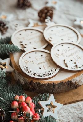 Bombki drewniane Moje Pierwsze Święta