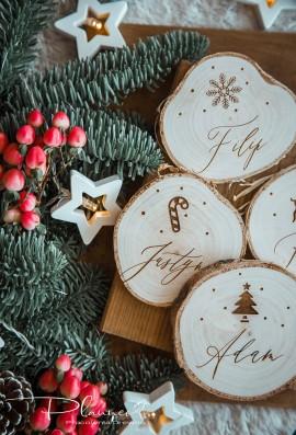 Plaster drewna z imionami