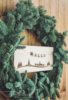 Drewniana deska grawerowana