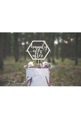 Drewniany topper Happily Ever After