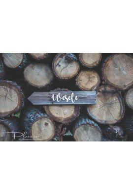 Drewniany drogowskaz wesele