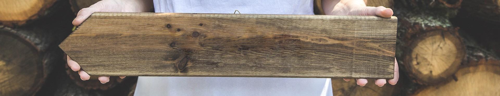 Drewniane wieszaki - ślub