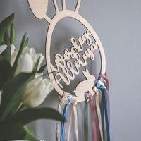 Piękny i niepowtarzalny łapacz z uszkami 🐰 jeszcze przez 7h przyjmujemy zamówienia Wielkanocne. Paczki zostaną do Was wysłane wtorek-środa 🐇  ________________________________________ #wielkanoc #wielkanocnedekoracje #zajączek #łapaczsnów #wielkanocneinspiracje #drewno #dekoracjewielkanocne #wesolegoalleluja #alleluja #happyeaster 🐰